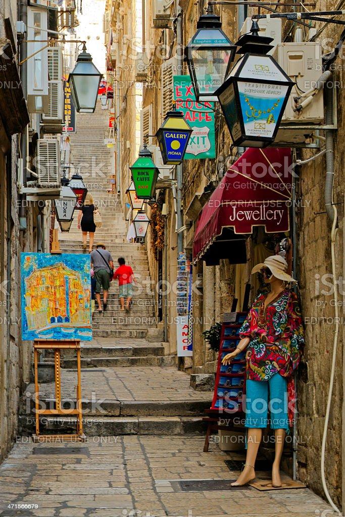 Street scene  in Dubrovnik, Croatia royalty-free stock photo