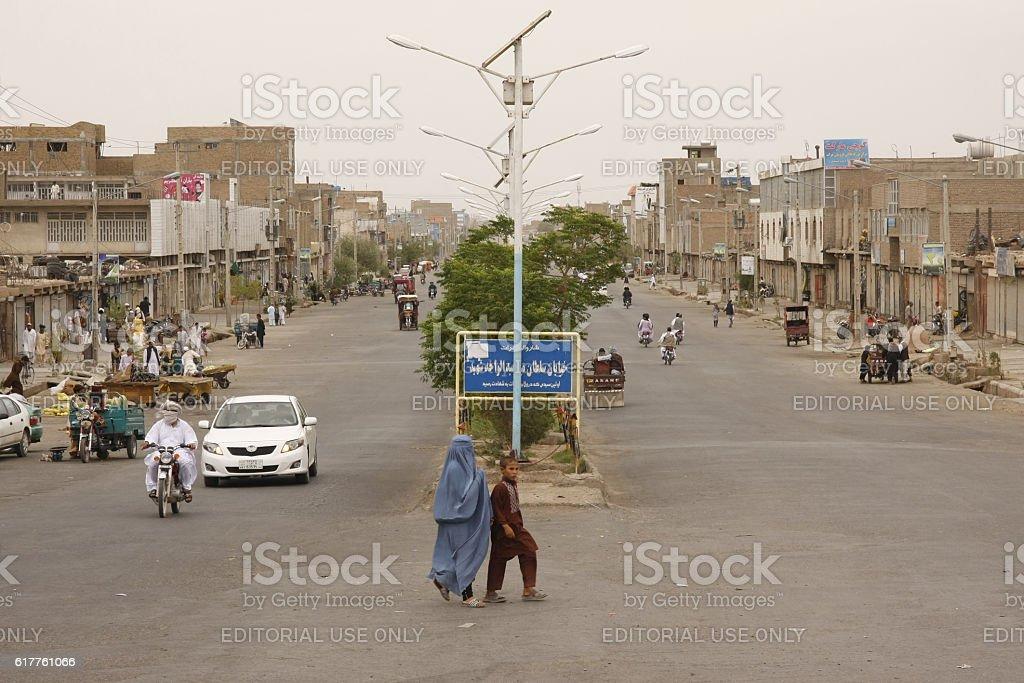 Street scene in Herat, Western Afghanistan stock photo