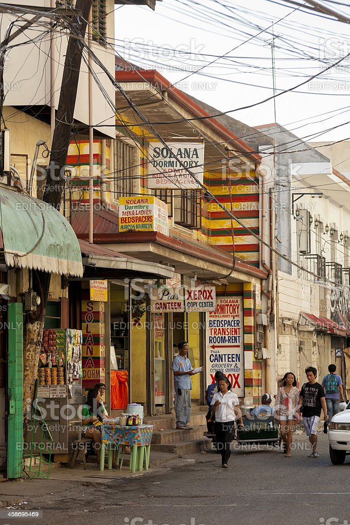 Street scene in Intramuros, ManilaS royalty-free stock photo