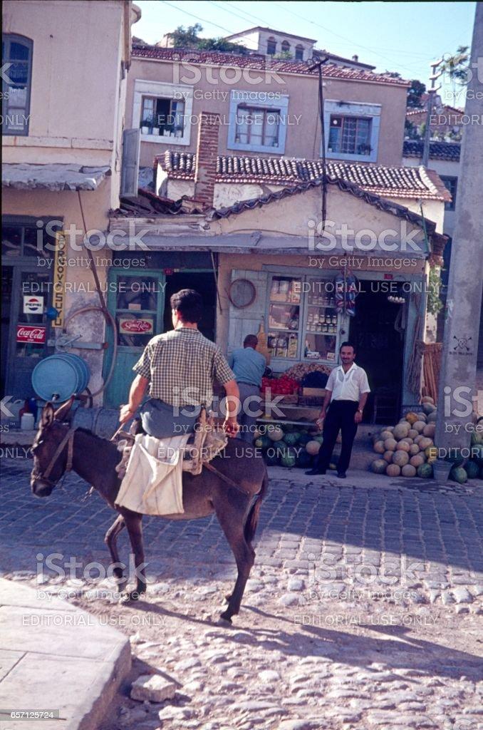 Street scene in Istanbul, 1968 stock photo