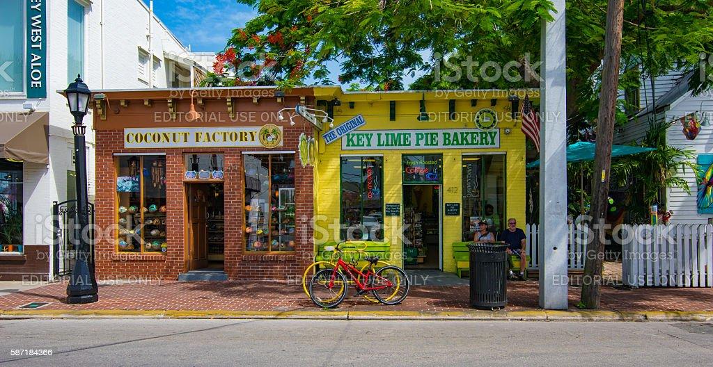 Street Scene in Key West, Florida stock photo