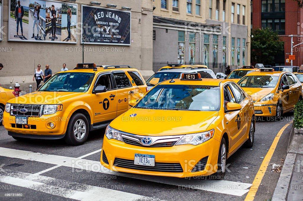 Street scene in New York City stock photo