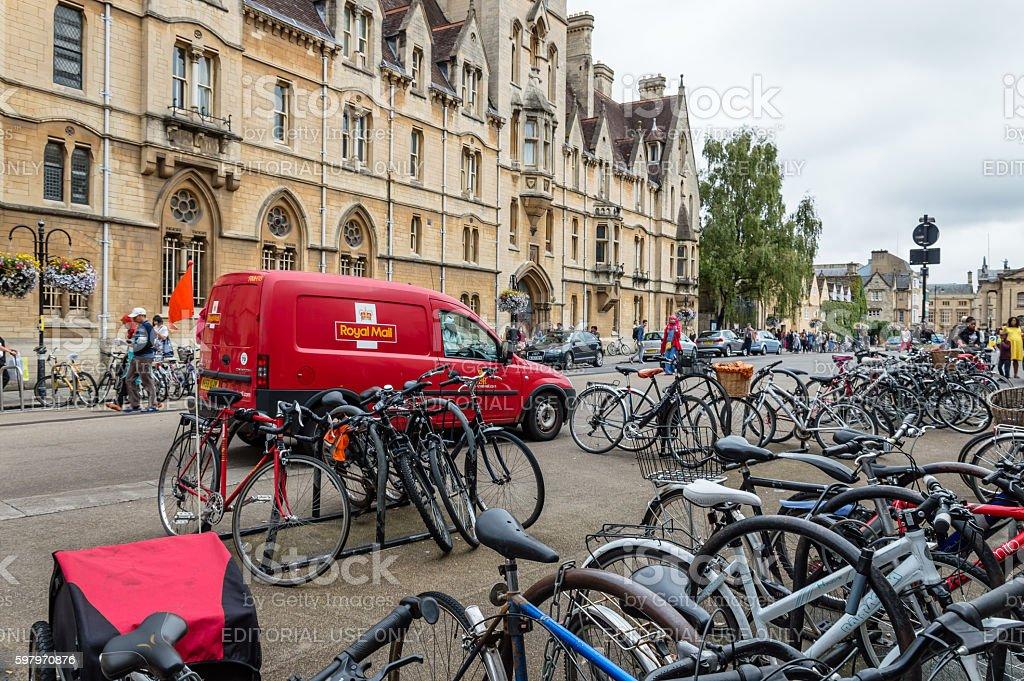 Street scene in Oxford stock photo