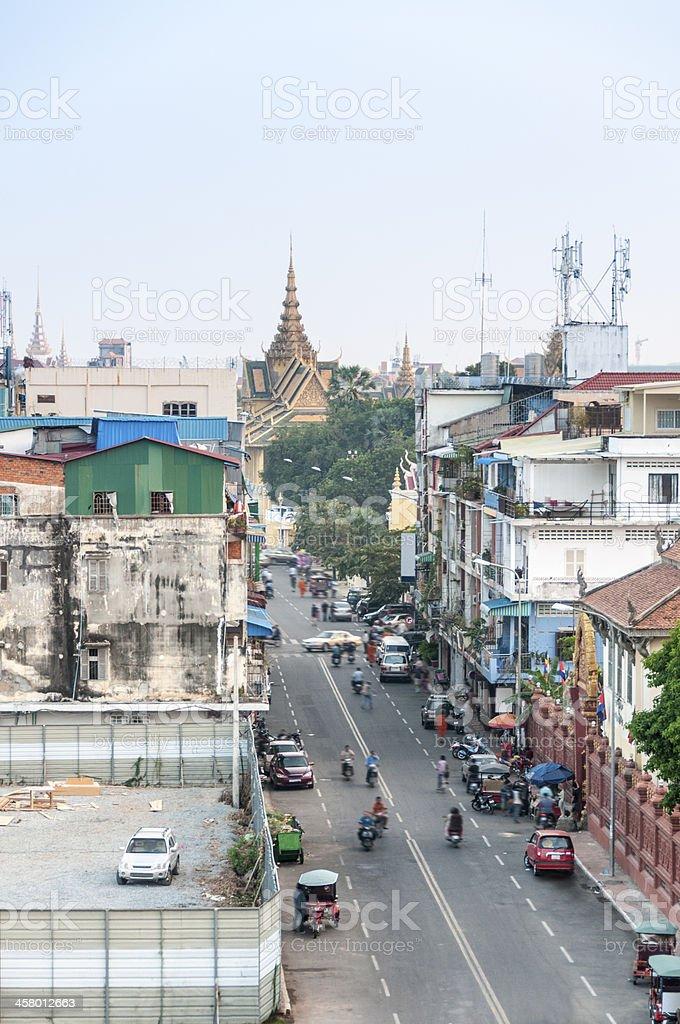 Street Scene In Phnom Penh royalty-free stock photo