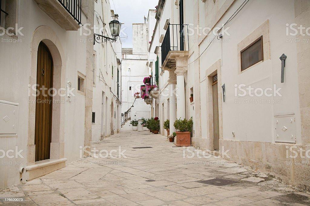 Street scene in Puglia, Southern Italy stock photo