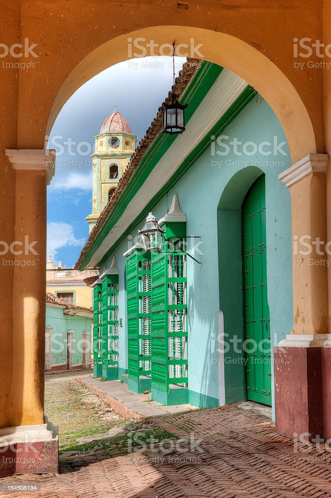 Street scene in Trinidad Cuba stock photo