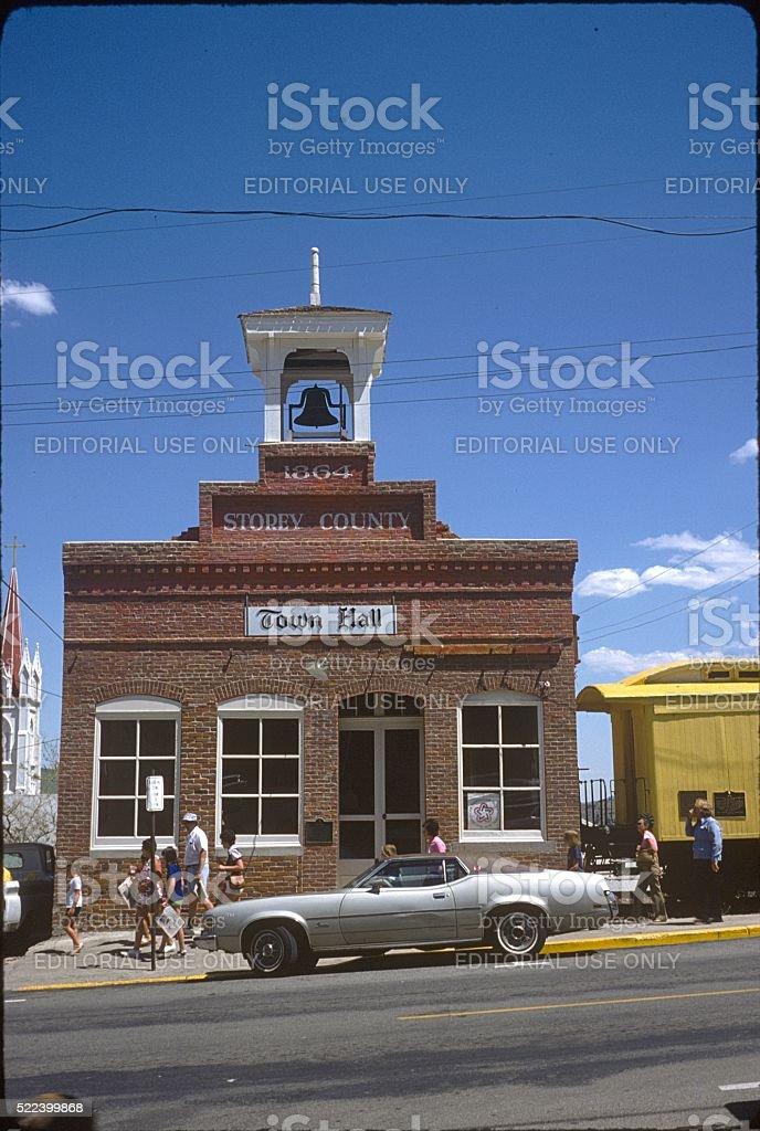 Street scene in Virgina City, Nevada stock photo