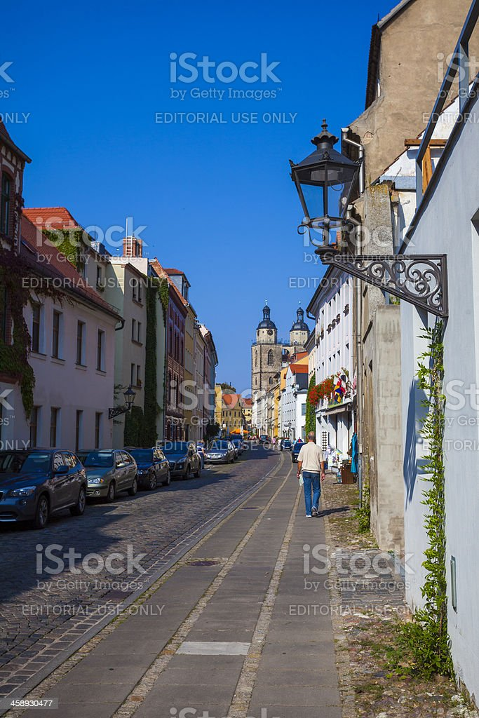 Street scene, Lutherstadt Wittenberg stock photo