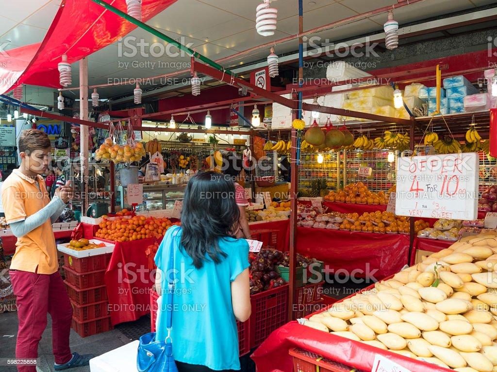 Street Scene of Bugis Area, Singapore stock photo