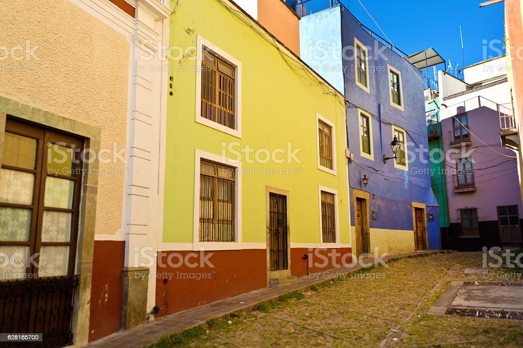 Street Scene of Guanajuato, Mexico stock photo