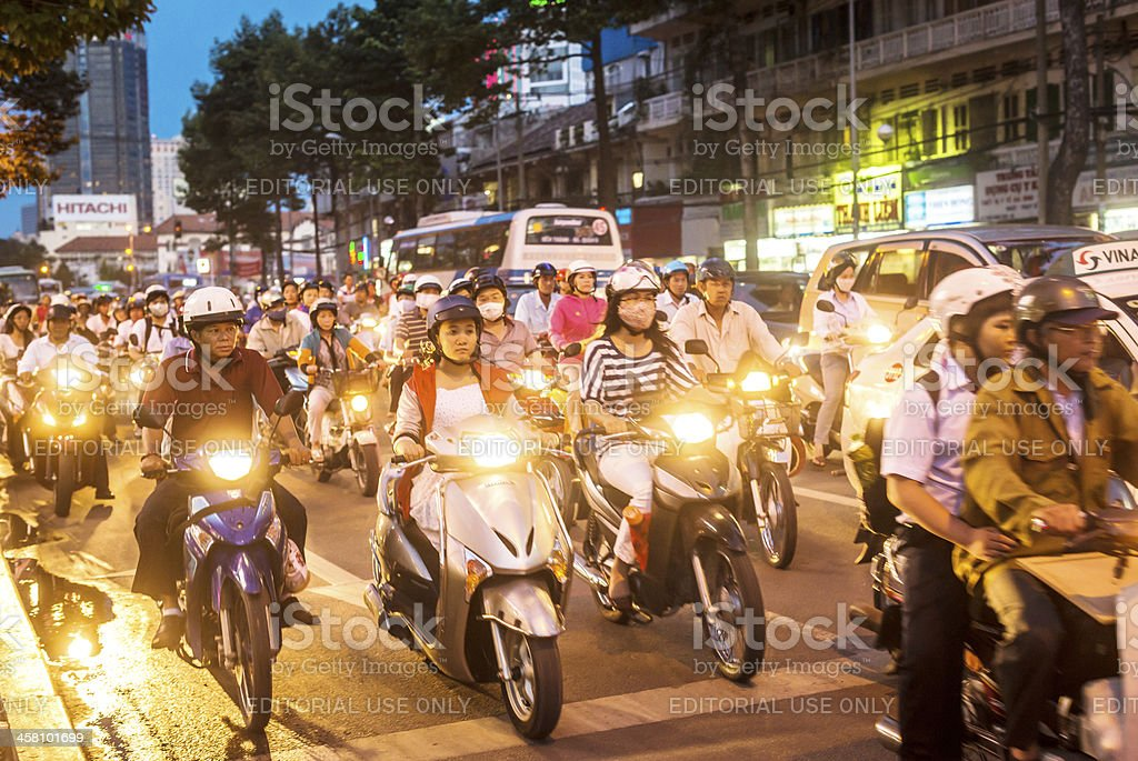 Street scene of Ho Chi Minh City, Vietnam royalty-free stock photo