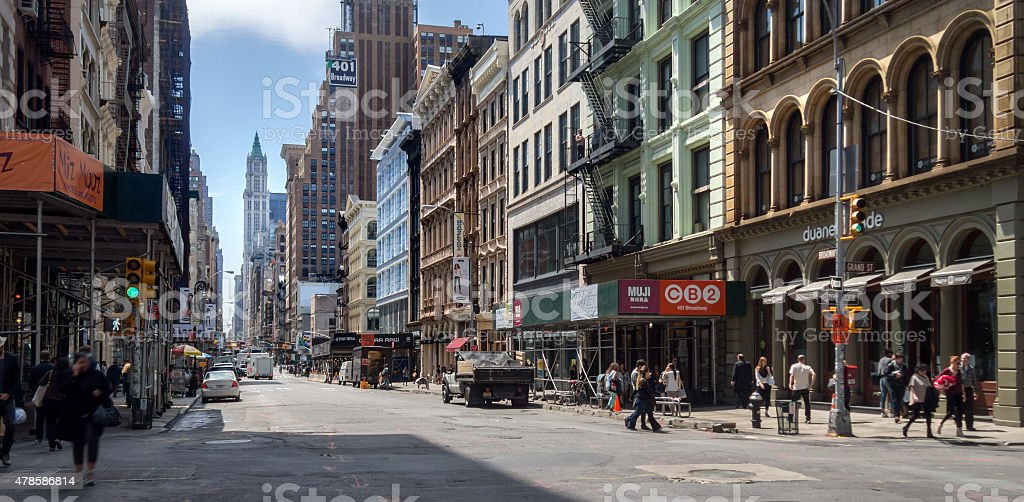 Street scene on broadway, Manhattan, new york stock photo