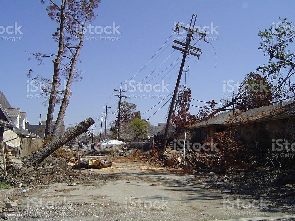 Street scene post-Katrina royalty-free stock photo