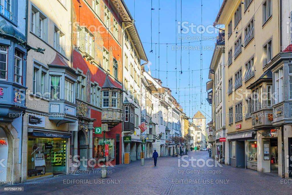 Street Scene, Schaffhausen stock photo