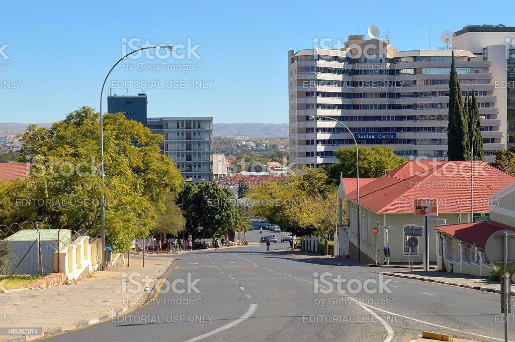 Street, scene, Windhoek, Namibia stock photo
