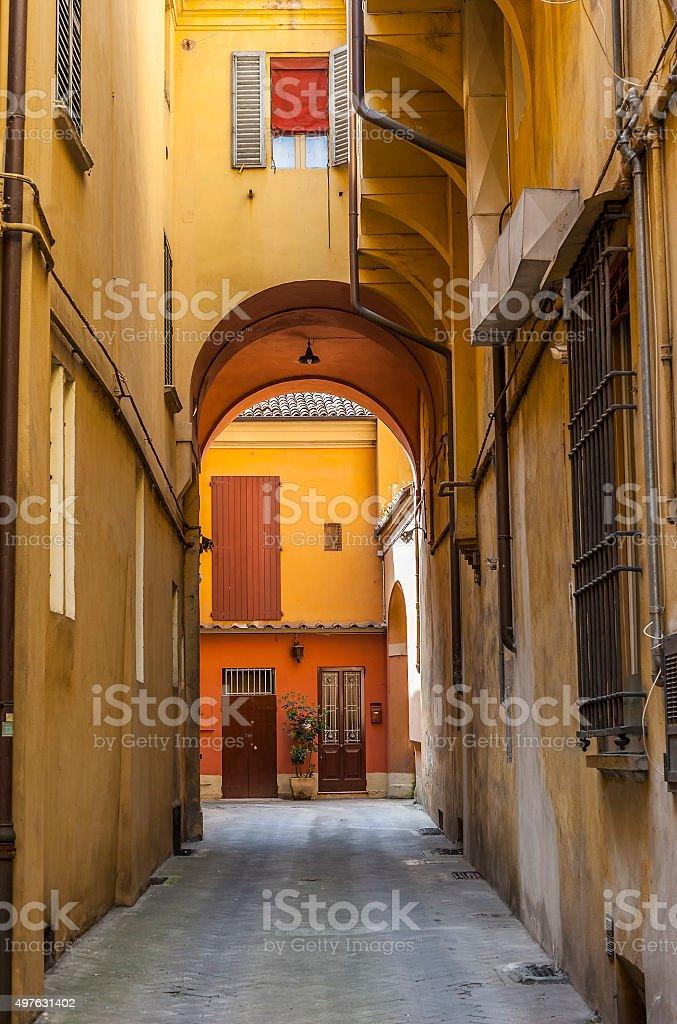 Street scenes in Bologna, Italy stock photo