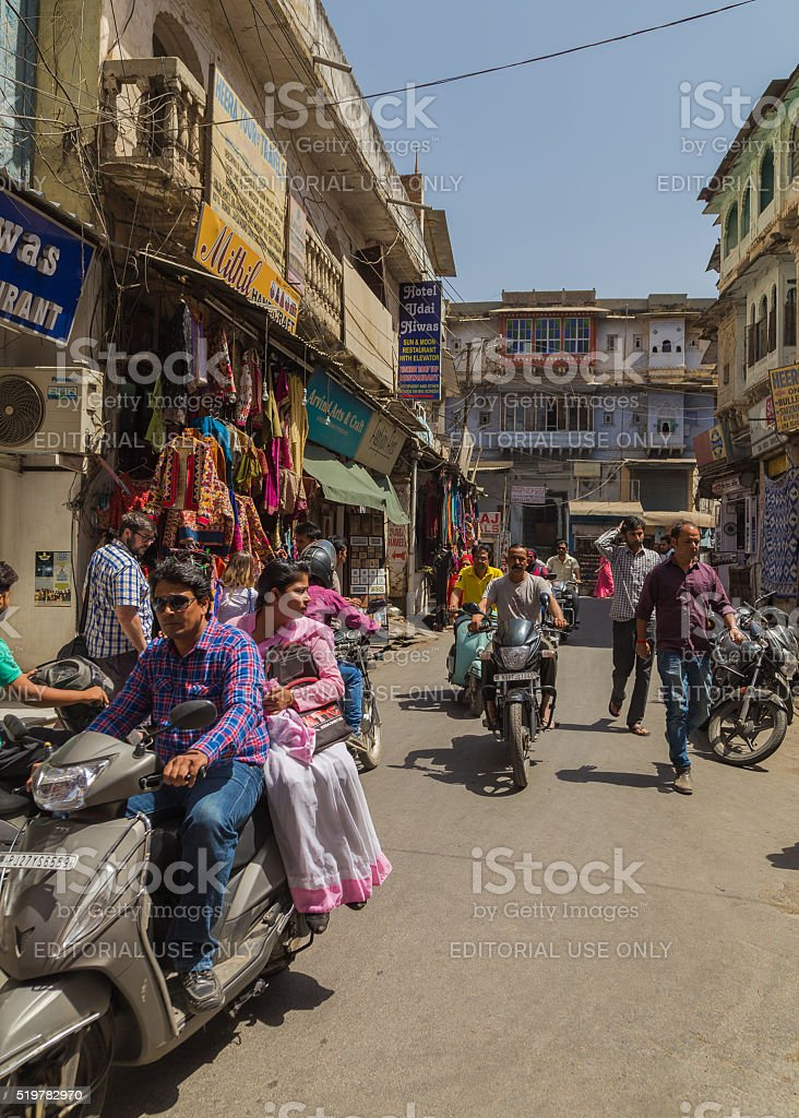 Street Scenes in Udaipur, India stock photo