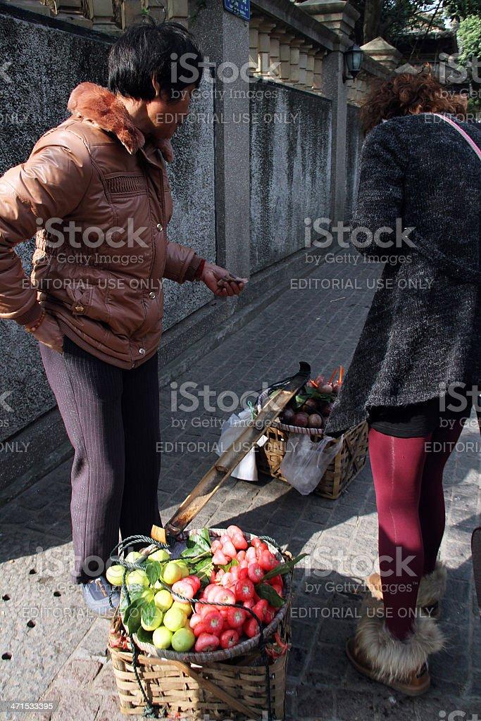 Venditore di strada per l'isola di Gulangyu foto stock royalty-free