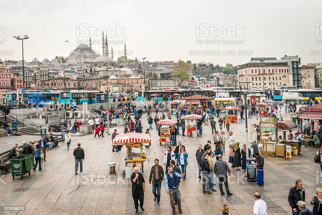 Street sellers in Istanbul, Turkey stock photo