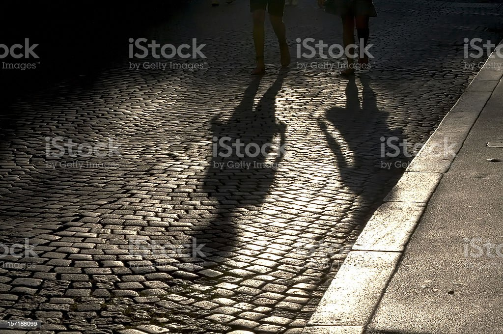 Street shadows stock photo