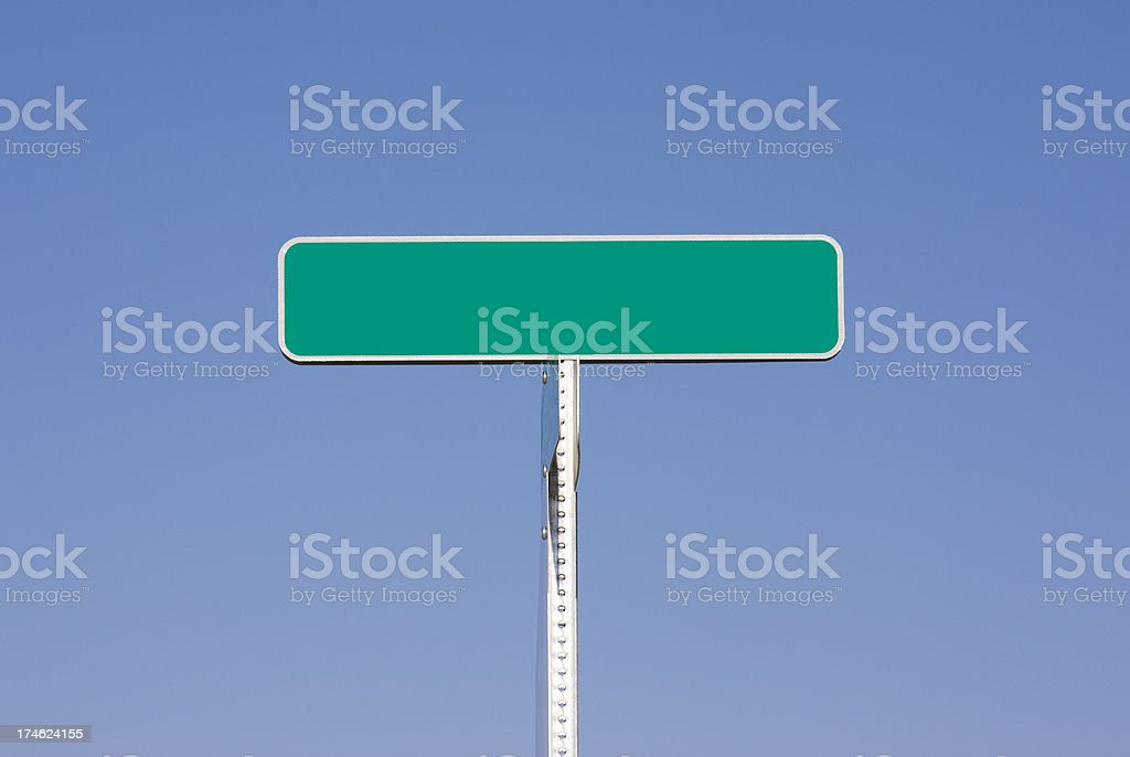Street Sign - Add Your Own Text royalty-free stock photo