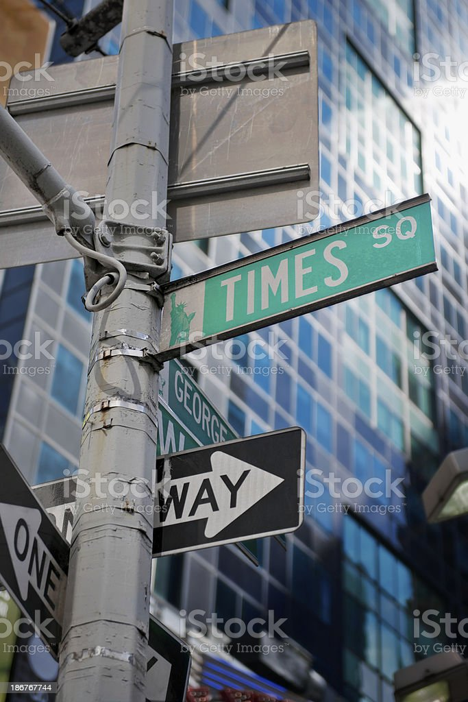 Street Sign at Times Square stock photo