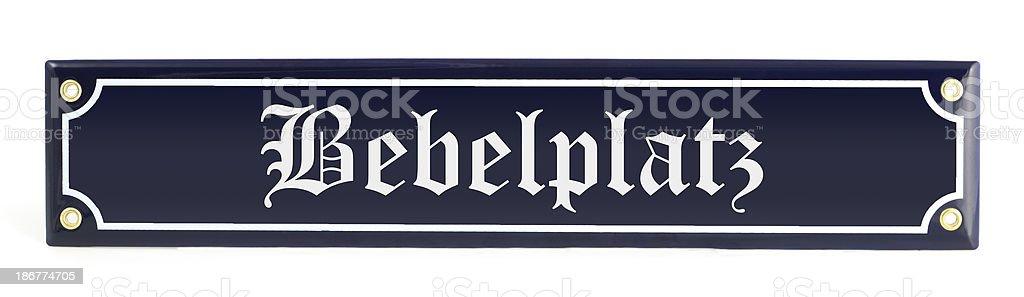 street sign Bebelplatz (Berlin - Germany) royalty-free stock photo