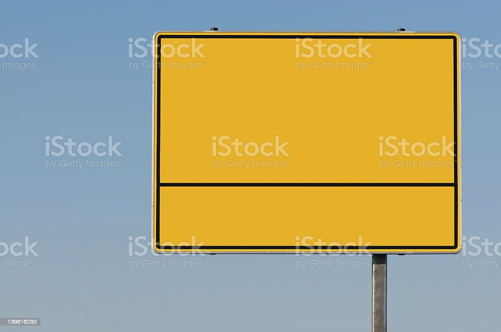 Street sign blank as a guide stock photo