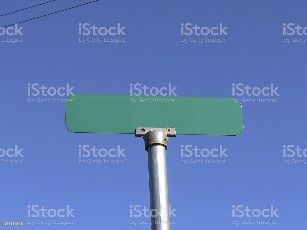 Street Sign Blank stock photo