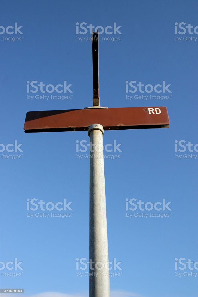 Street Sign Blank RD royalty-free stock photo