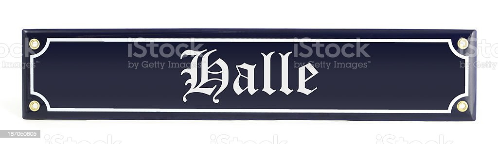 street sign Halle - Germany royalty-free stock photo