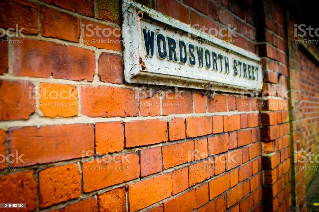 Street sign in Lincoln stock photo