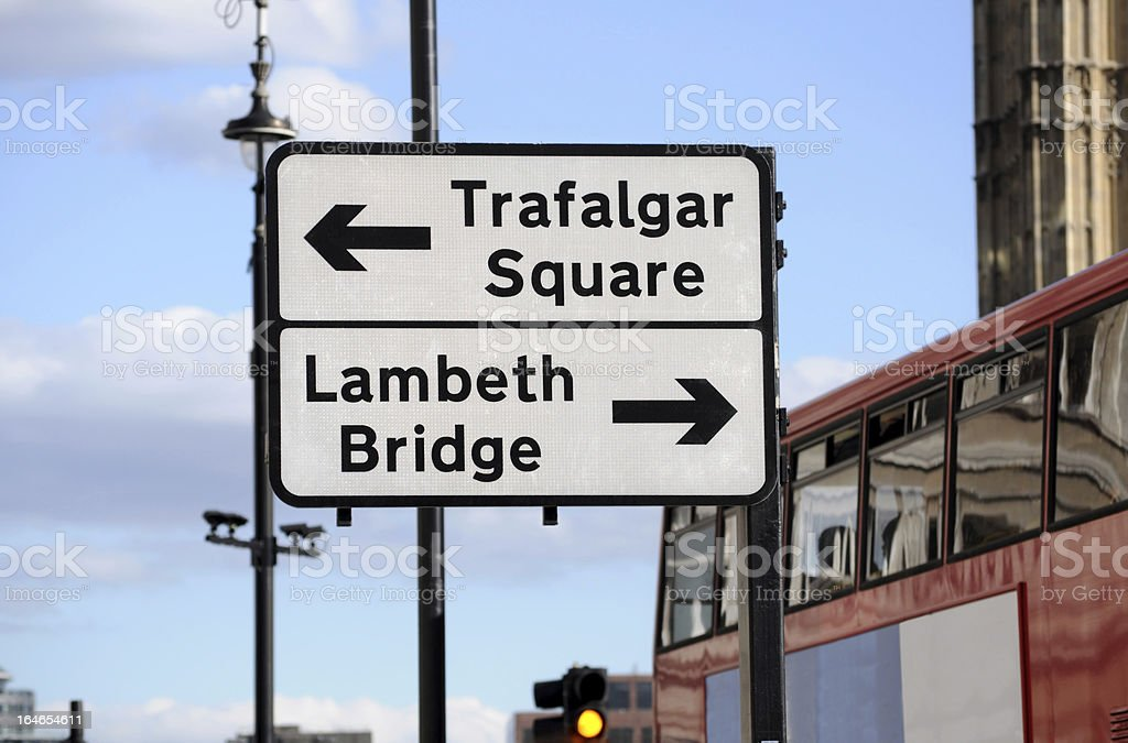 Street sign in London stock photo