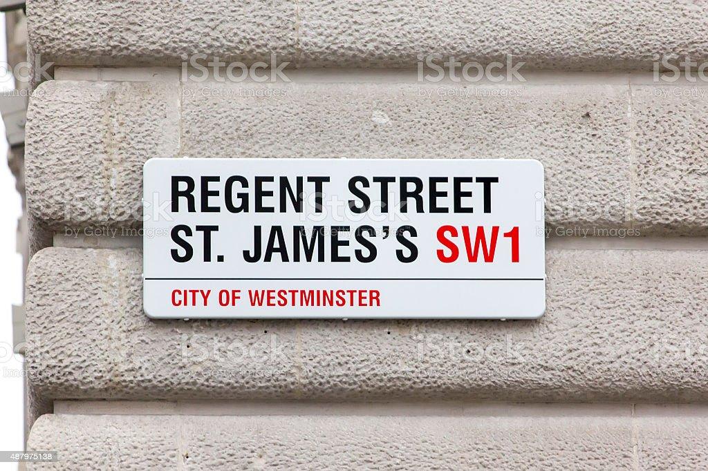 Street sign in London, UK stock photo