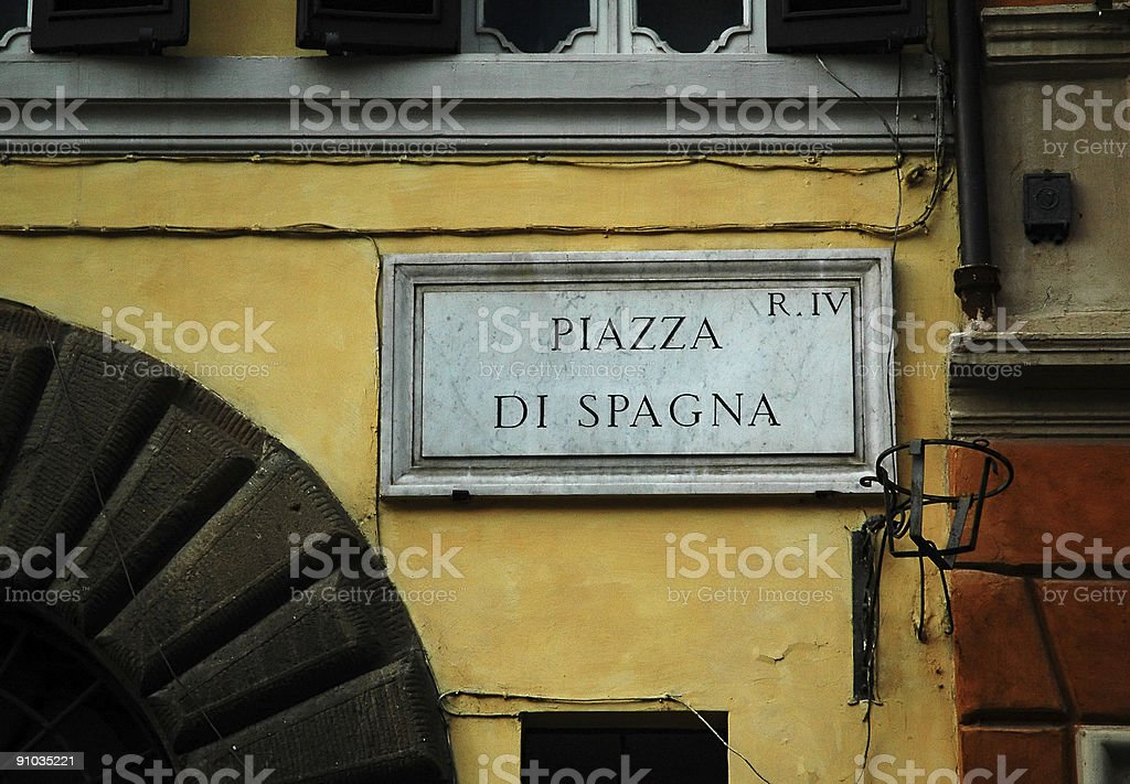 Street sign in Rome royalty-free stock photo