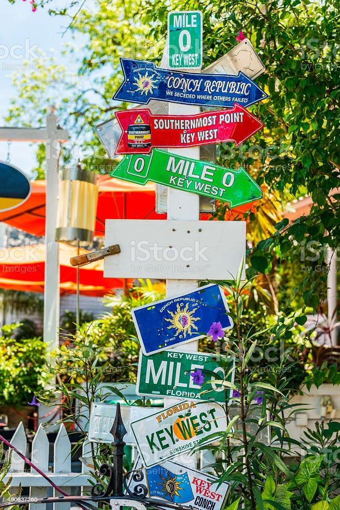 street sign Key West stock photo