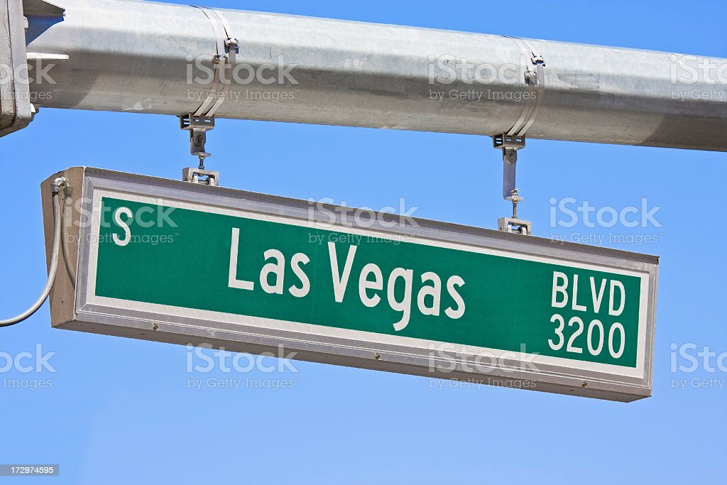 Street sign, Las Vegas Boulevard, The Strip. royalty-free stock photo