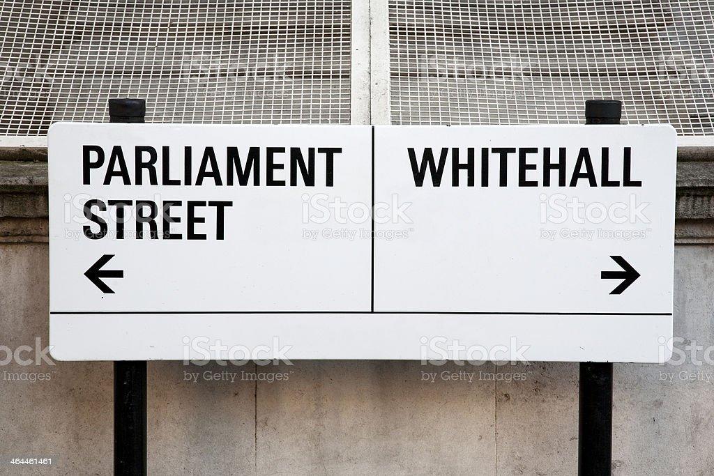 Street Sign, London stock photo