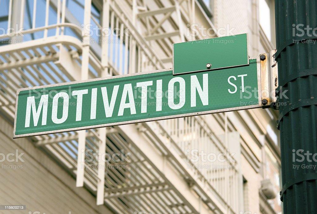Street Sign: Motivation royalty-free stock photo