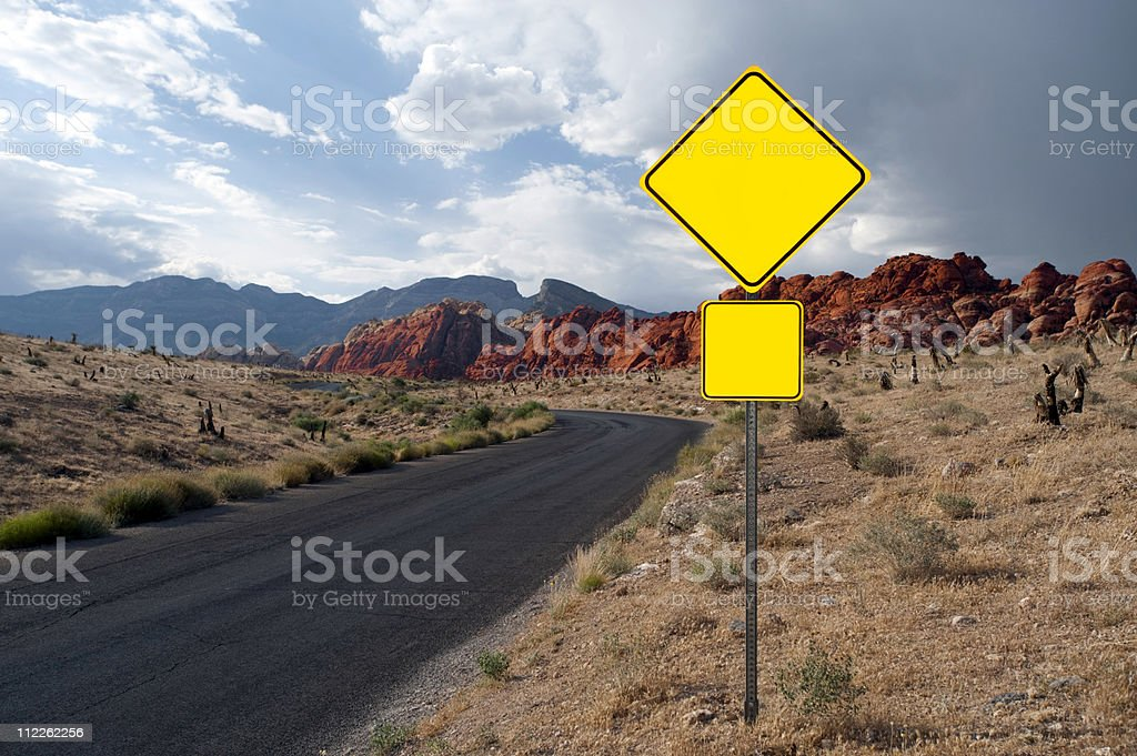 street sign on Red Rock Road royalty-free stock photo