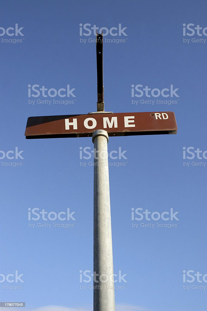 HOME street sign royalty-free stock photo