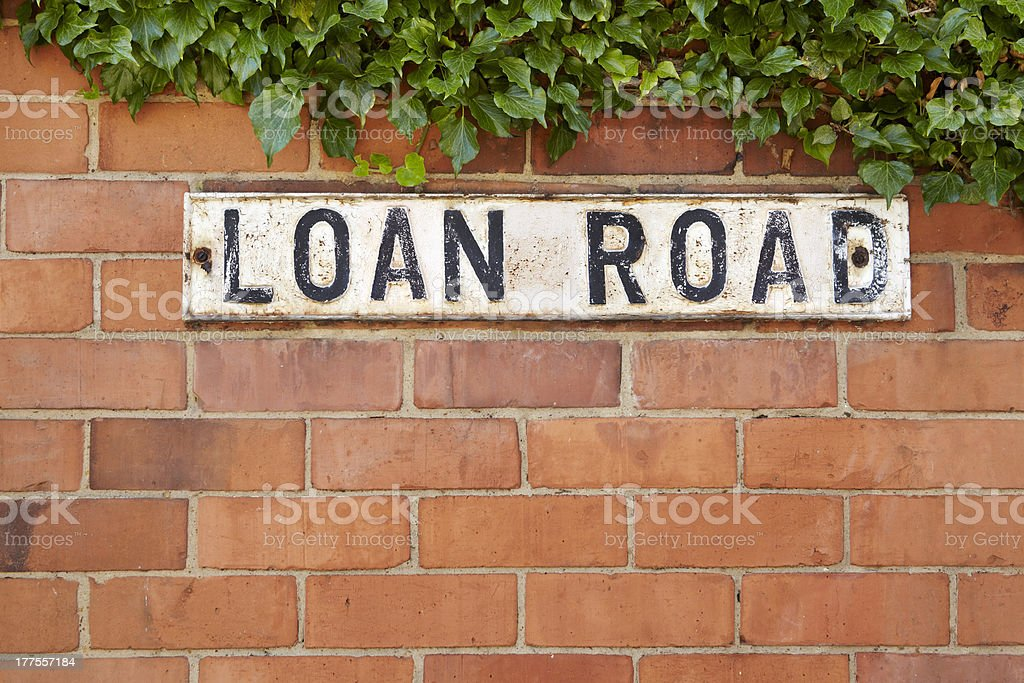 Street sign reading Loan Road royalty-free stock photo