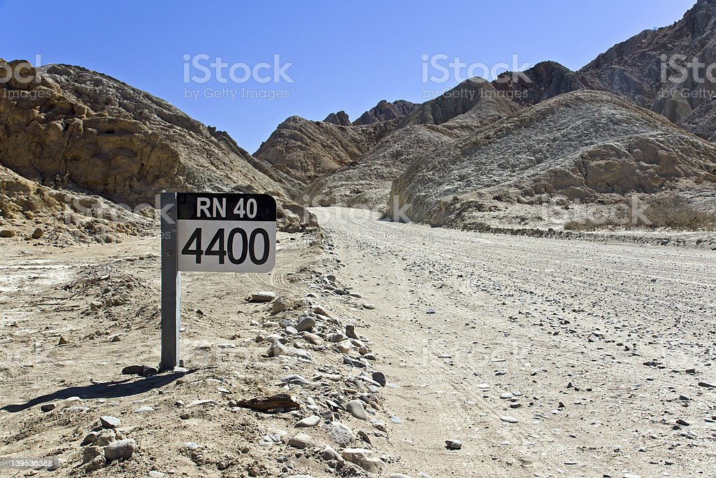 Street sign Ruta 40 in Argentina royalty-free stock photo