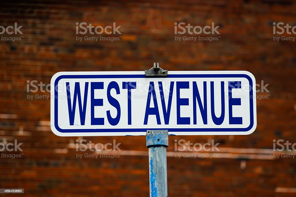 Street Sign - West Avenue stock photo