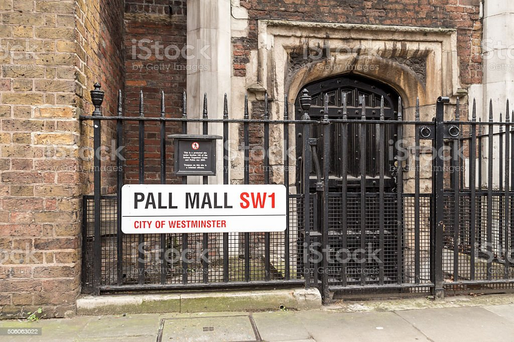 Street signs in London stock photo