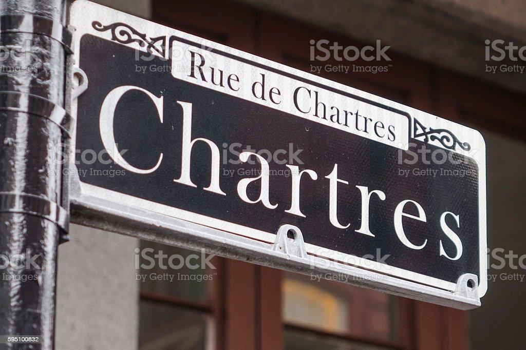 Street signs in New Orleans French Quarter Lizenzfreies stock-foto