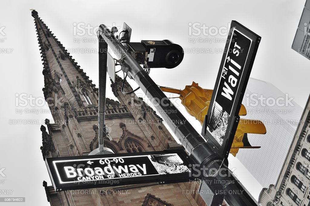 NYC street signs. stock photo