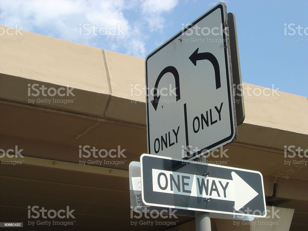 Street Signs Under A Highway - choose directions royalty-free stock photo