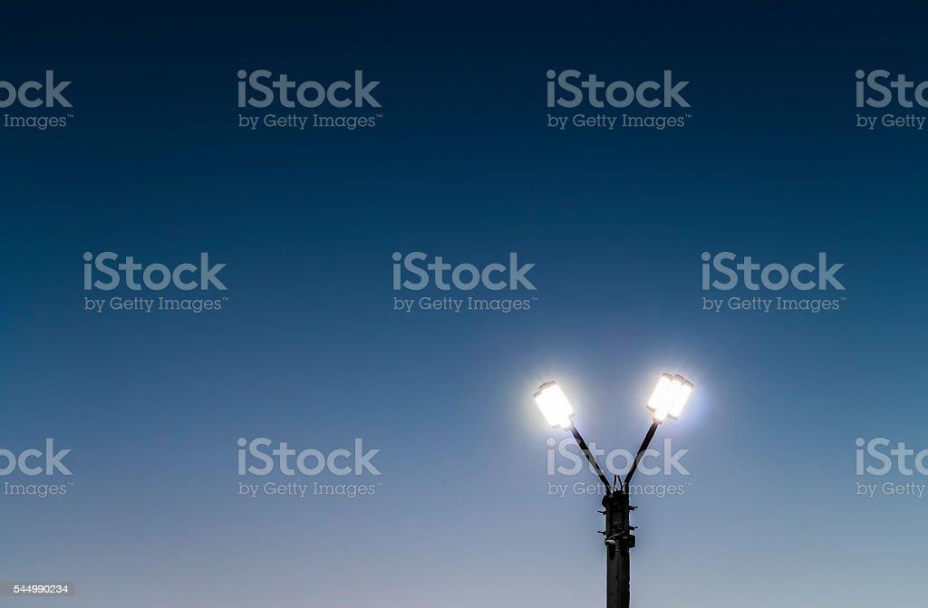 LED street spotlight stock photo
