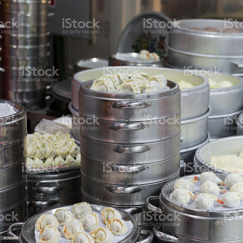 Street stall food in Korea stock photo